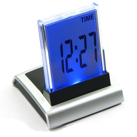 7-Color Changing LED Digital LCD Alarm Clock Thermometer