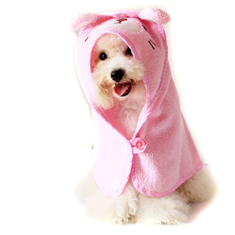 Hooded Bath Microfiber Towel for Pets