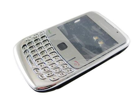 Replacement shell for use with BlackBerry 8520 and 8530 cover housing faceplate silver and golden + tools
