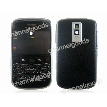 Replacement shell for use with Blackberry Bold 9000 housing faceplate cover skin black with tools