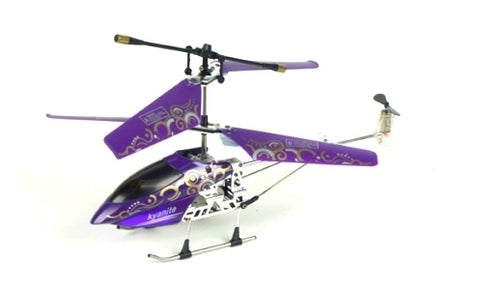 Mini Radio Control Helicopter Toy Purple