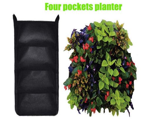 Vertical Garden Planters Wall Planter with 4 Pockets