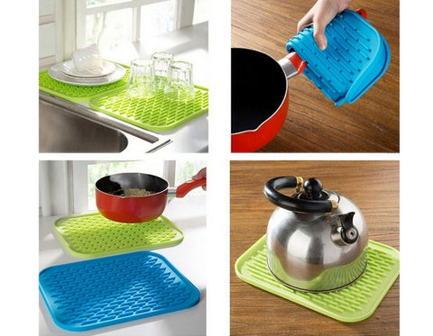 Flexible Non Slip Large Silicone Drying Mat Rubber