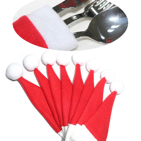 Christmas Tableware Hat Decorations