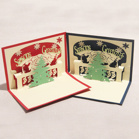 Origami 3D Pop UP Christmas Cards set of 3