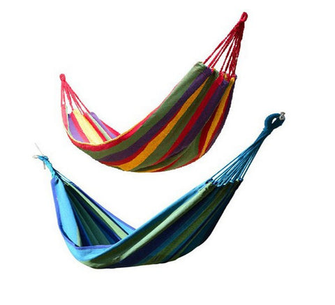 Cotton Hammock Striped for Outdoor Garden Camping