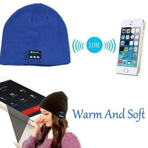 Knitted Hat Phones Wireless Bluetooth Earphone Smart