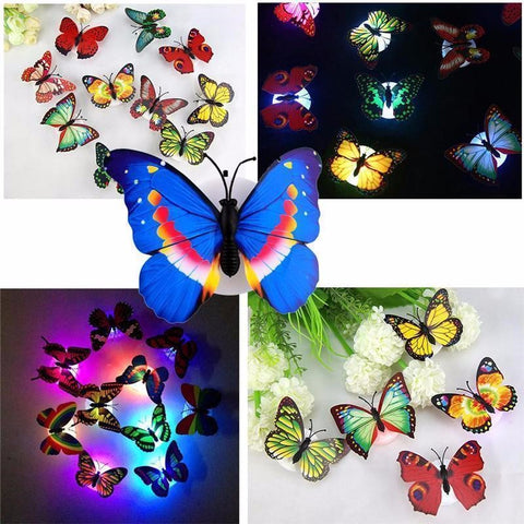 LED Butterfly Decoration Lights Set of 3