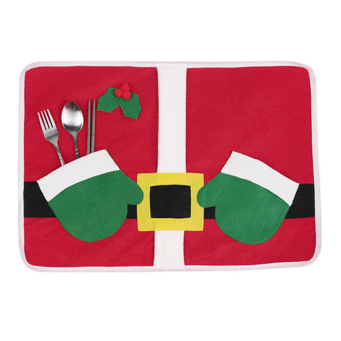 Santa Holiday Dinner Table Mat Placemat
