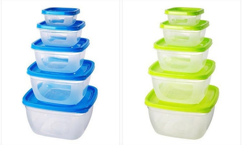 Square Top Kitchen Colourful Food Container Set