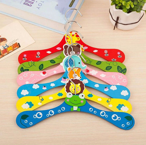 Cartoon Animals Wooden kids Clothes Hanger