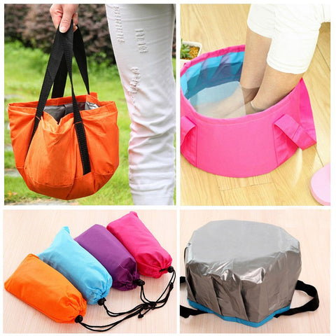 Portable Folding Bucket Outdoor Storage Bag