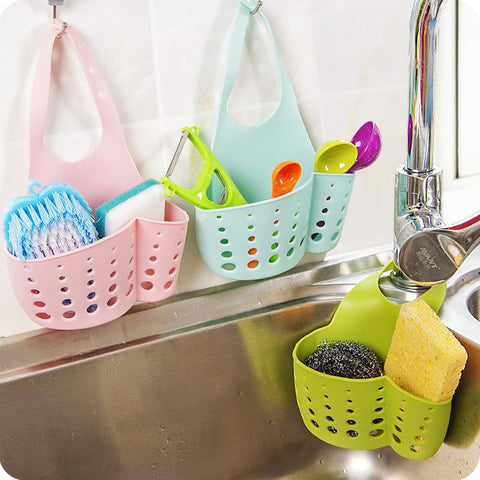 Sponge Storage Rack Basket Wash /Toilet Soap Shelf Organizer