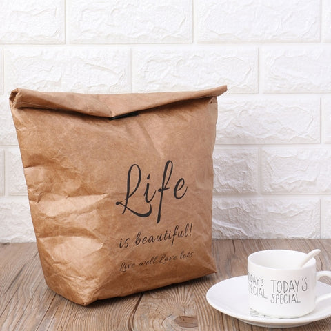 Kraft Paper Reusable Thermal ECO Lunch Bag