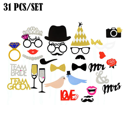 Funny Glasses Moustache Birthday Party Wedding Celebration Decoration Photo Props