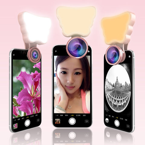 LED Selfie Flash Light Beauty Phone Lens
