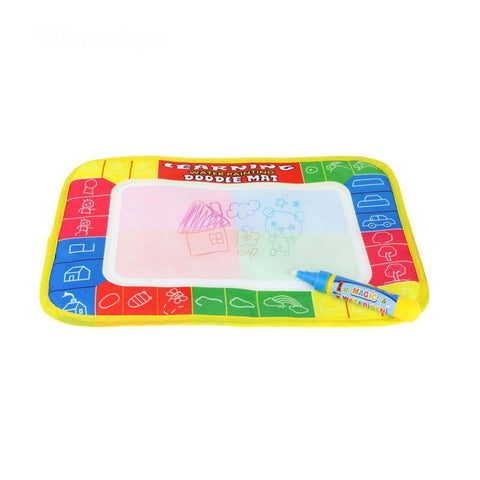 4 Color Mini Water Drawing Doodle Rug with 1 Magic Pen for Kids