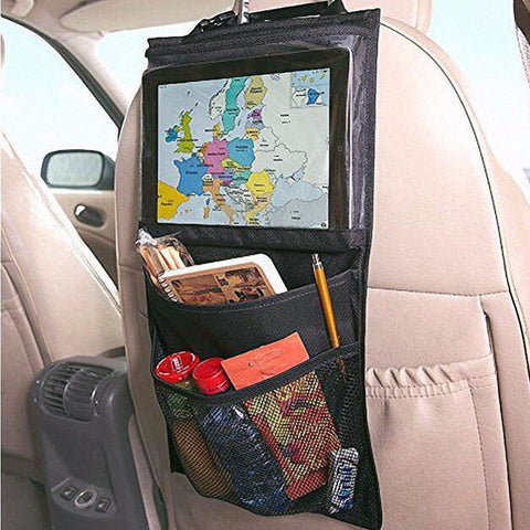 Multi-Pocket Car Seat Back Organiser