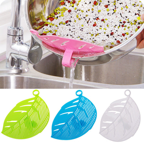 Leaf Shape Rice Wash Sieve Beans Peas Cleaning Gadget