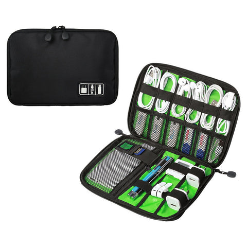 All-In-One Travel Case Organizer for Cables, Chargers, Phones and Batteries