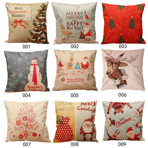 Santa Christmas Cushion Cover Pillowcase Home Accessories