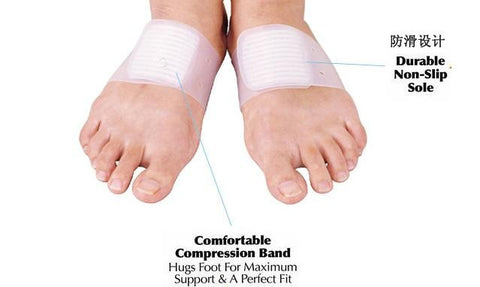 1 pair Gel Arch Support Orthotic Brace Flatfoot Corrector Bandage Foot Pad
