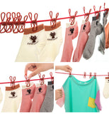 Travel Business Clothes Line Rope with Belt Clips