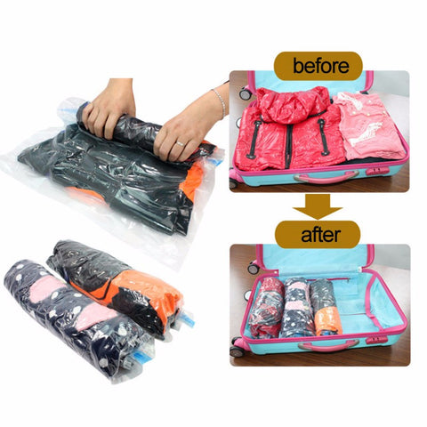Vacuum Compression Bags for Travel Packing Storage