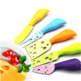 5 Pcs/Set Cheese Knife Set Cheese Fork Butter Knife Multi-color Cheese Cutter Kitchen Cooking Gadget