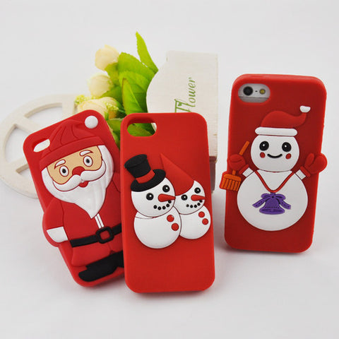 Silicone Christmas Holiday Cover Back Protector For Apple iPhone 5 5S
