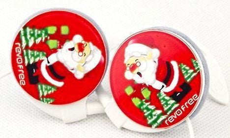 Hook earphone for Chrismas with Santa Claus