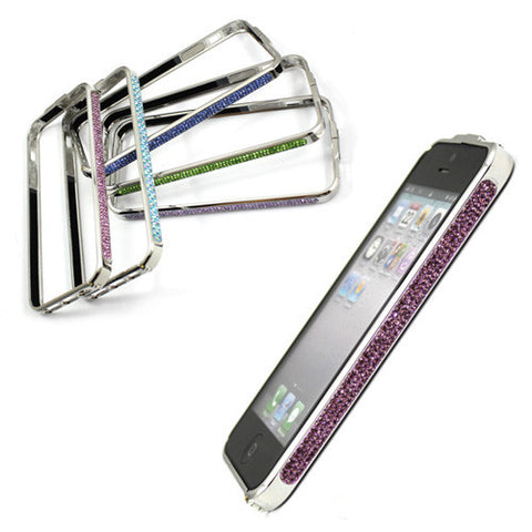 Diamond Crystal Bling Metal Aluminum Frame Case for iPhone 5 5G