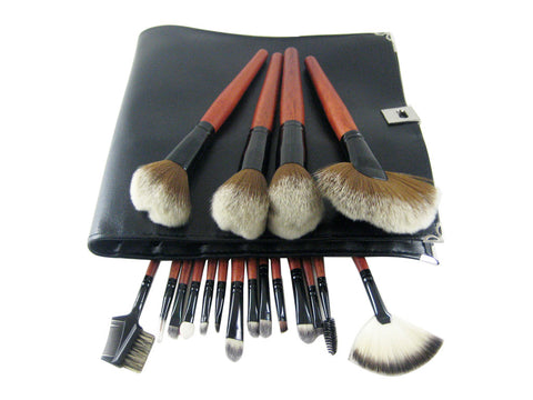 18 Piece Professional Black Make up kit Brush set