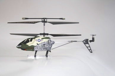 RC 3 channel Metal Gyro Helicopter Military Camouflage