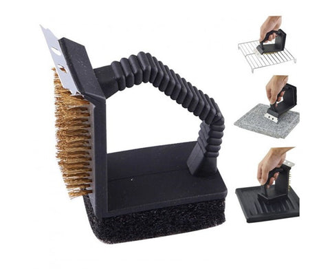 Multifunction 3 in 1 BBQ Grill Cleaning Brush