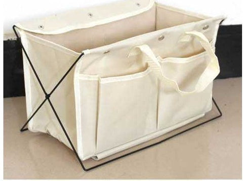 Simple Clever Folding Organizer Gadget Desktop Basket with pouches for home or office