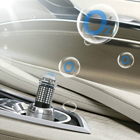 Mini In Car Air Purifier LED Ionizer Oxygen Bar Device