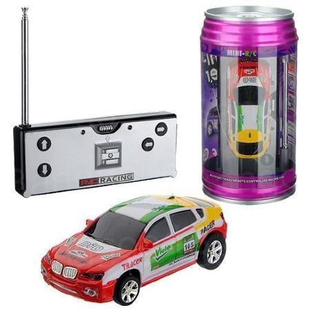 POP CAN Cola Mini 1:63 Tin RC Radio Controlled Toy CAR Remote Control Super Racing with LED lights