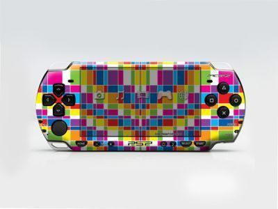 PSP 2000(SLIM) Skin Decals Colorful Bands with skins application kit