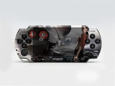 PSP 2000(SLIM) Skin Decals Racers with skin application kit