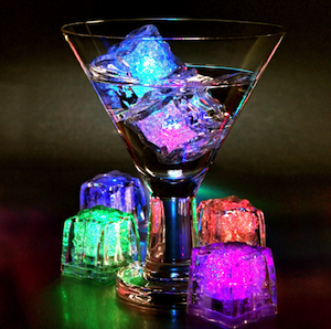 Glow Ice Cubes x 6 Light Cubes for drinks