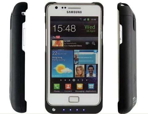 Extended Backup Charging Battery 3200mAh Flip Case For Samsung Galaxy Note II 2