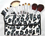 12 Piece Leopard Print Make Up kit Brush set