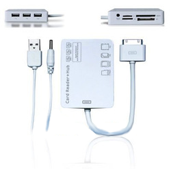 SD/MS/M2/TF Card Reader + 3 x USB HUB Connection Kit for iPad iPhone 4 iPhone 3G/3GS