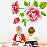 BEDROOM STICKERS DECOR DECAL ROSE BABYROOM REMOVABLE VINYL STICKER