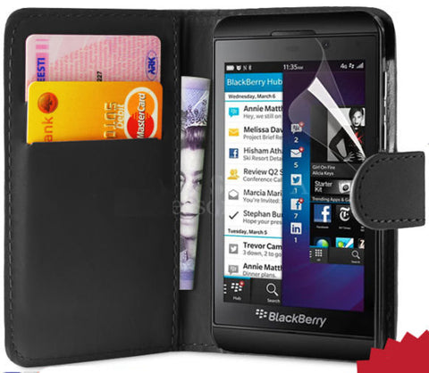 Blackberry Z10 BB 10 Cover credit card wallet case pouch with clip