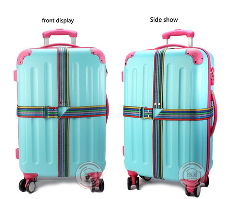 Luggage Suitcase Strap with Safety Belt