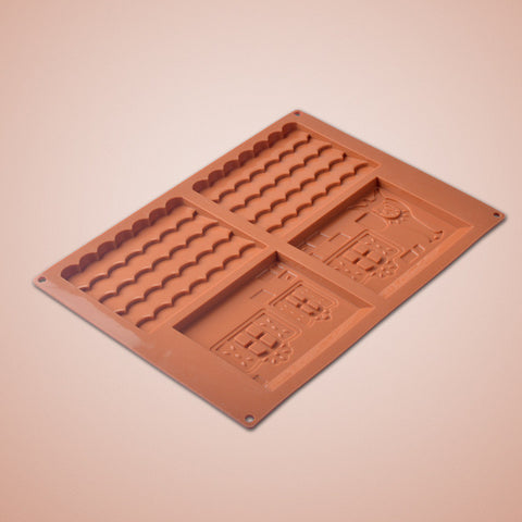 Gingerbread House Chocolate House Cookie Baking Silicone Mold