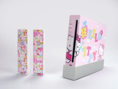 Hello Kitty Skin Decal Skin for Nintendo Wii