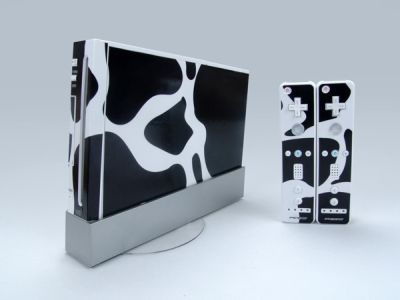 White and Black Decal Skin Sticker for Nintendo Wii